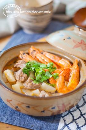 【视频】鲜香更上一层~鲜虾羊肉砂锅