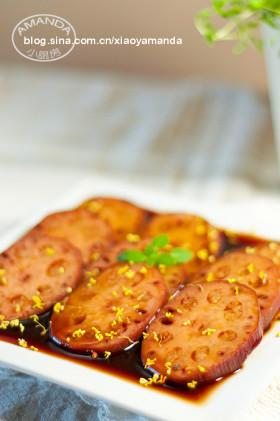舌尖上的甜蜜~桂花红糖糯米藕