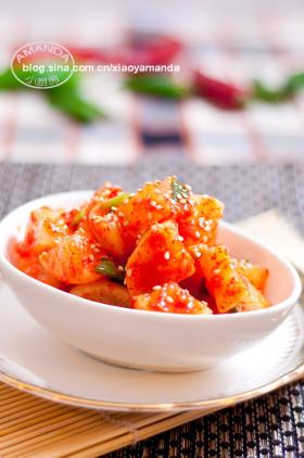 经过时间检验的方法~韩式萝卜泡菜