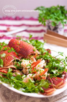 龙虾两吃~清蒸龙虾和龙虾粥