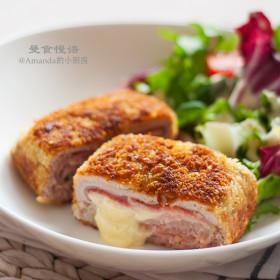 【视频】外酥里嫩,香浓爆浆~芝心猪排