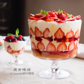 【曼食慢语】草莓布丁杯~经典英式trifle