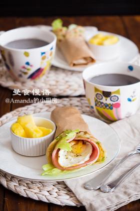 【曼食慢语】葱油卷饼&黑芝麻糊~快手营养早餐