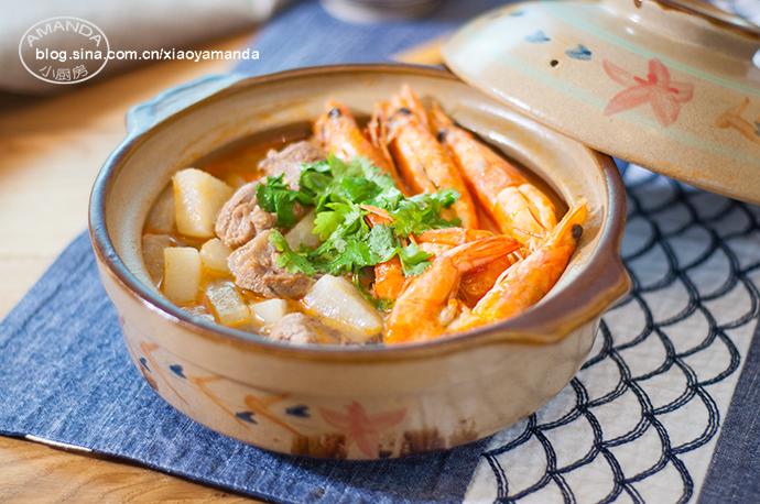 鲜香更上一层——鲜虾羊肉砂锅(视频)