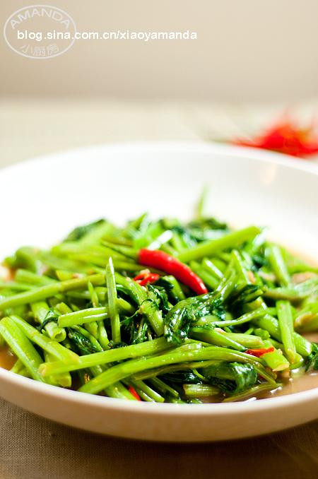 素菜也要很惹味——虾酱空心菜