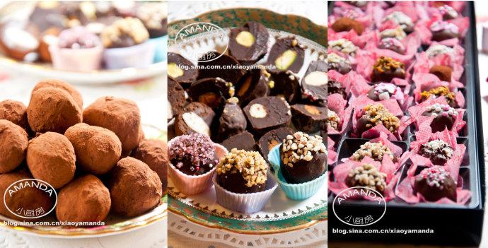上某宝买巧克力神马的弱爆啦——手工松露巧克力Homemade<wbr>Chocolate<wbr>Truffles