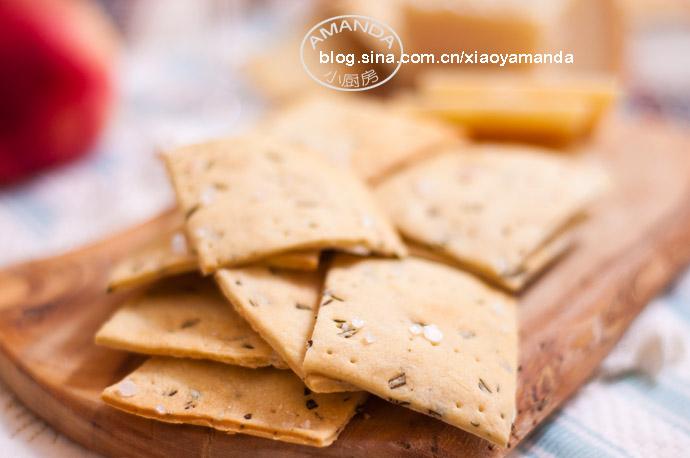 清香迷人的小零食——迷迭香苏打饼干