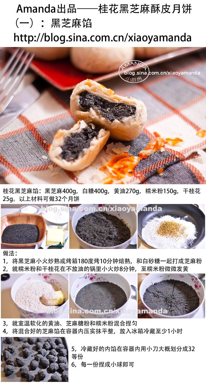 最省力的中式酥皮——桂花黑芝麻酥皮月饼