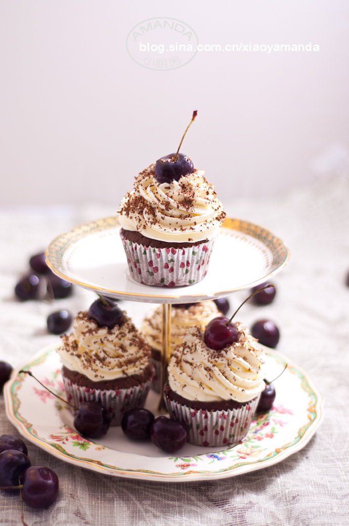 堕落的诱惑——黑森林杯子蛋糕