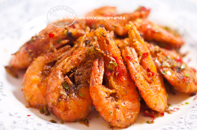 超简单自制椒盐配方——椒盐大虾