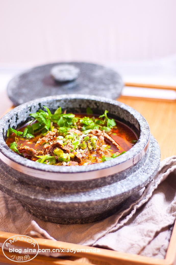 自制火锅底料应用——水煮牛肉