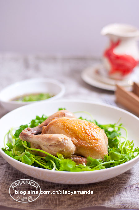 Amanda私房菜——葱姜盐焗童子鸡